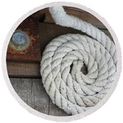 Coiled Round Beach Towel