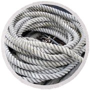 Coiled Rope  Round Beach Towel