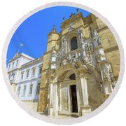Coimbra Historic City Round Beach Towel