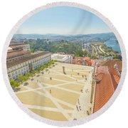 Coimbra University Aerial Round Beach Towel
