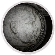 Coin Collector V Round Beach Towel