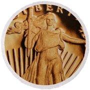Coin Collector Viii Round Beach Towel