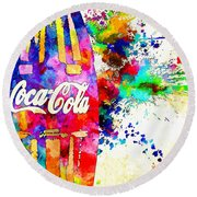 Coke Round Beach Towel