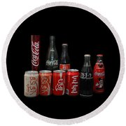Coke From Around The World Round Beach Towel