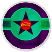 Coke N Lime Round Beach Towel