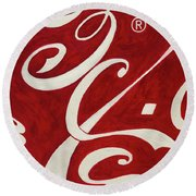 Cola - Coca Round Beach Towel