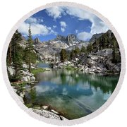 Colby Lake Outlet - Sierra Round Beach Towel