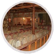 Colchagua Valley Wine Barrels Round Beach Towel