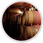 Colchagua Valley Wine Barrels II Round Beach Towel