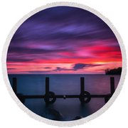 Colchester Harbour Round Beach Towel