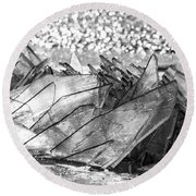 Cold And Broken Round Beach Towel