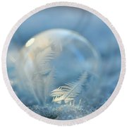 Cold As Ice Round Beach Towel