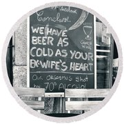 Cold Beer Round Beach Towel