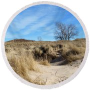 Cold Dune Day Round Beach Towel