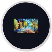 Cold Emotions Round Beach Towel