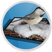 Cold Feet Round Beach Towel