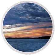 Cold Front Round Beach Towel