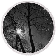 Cold Moon Round Beach Towel