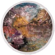 Mountain's, Cold Morning Light Round Beach Towel