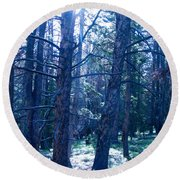 Cold Mountain Light Round Beach Towel