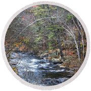 Cold Mountain Stream Round Beach Towel