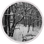 Cold Seat Round Beach Towel