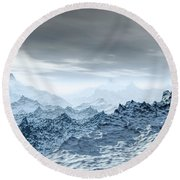 Cold Weather Environment Round Beach Towel