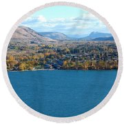 Coldstream Valley In Autumn Round Beach Towel