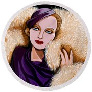 Colette Round Beach Towel by Tara Hutton