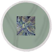 Coleus Leaves Round Beach Towel