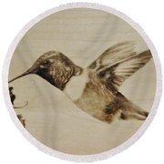 Colibri Round Beach Towel