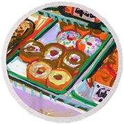 Coligny Donuts Round Beach Towel