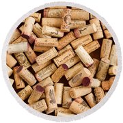Collection Of Corks Round Beach Towel