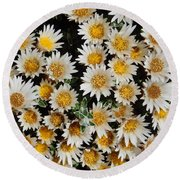 Collective Flowers Round Beach Towel