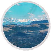 Collegiate Peaks From Little Grouse Mountain Round Beach Towel