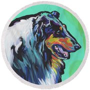 Collie Collie Round Beach Towel
