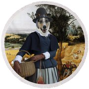Collie Smooth - Smooth Collie Art Canvas Print - The Harvesters Round Beach Towel