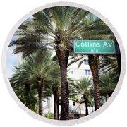 Collins Av A1a Round Beach Towel