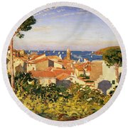 Collioure Round Beach Towel