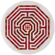 Cologne - Red Earth Round Beach Towel