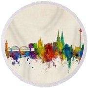 Cologne Germany Skyline Round Beach Towel