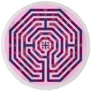 Cologne - Plums Round Beach Towel