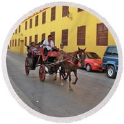 Colombia Carriage Round Beach Towel