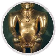 Colombia: Gold Figure Round Beach Towel