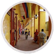 Colombia Walkway Round Beach Towel