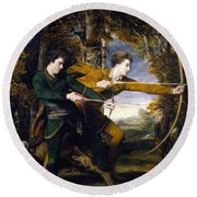 Colonel Acland And Lord Sidney Archers Round Beach Towel