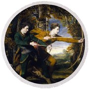 Colonel Acland And Lord Sydney The Archers Round Beach Towel