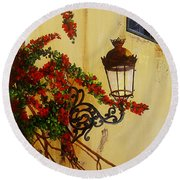 Colonial Corner Round Beach Towel
