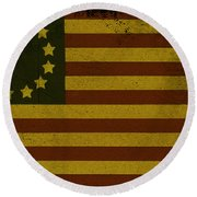Colonial Flag Round Beach Towel