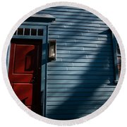 Colonial Red Door Newport Rhode Island Round Beach Towel